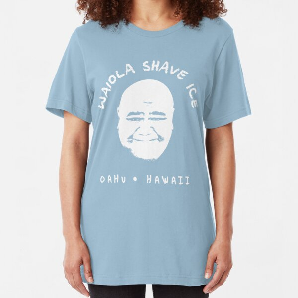 Waiola Shave Ice (White) Slim Fit T-Shirt