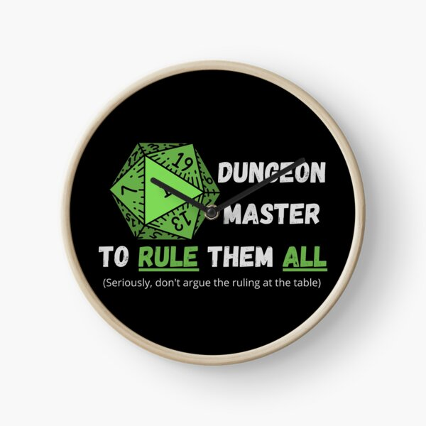 One Dungeon Master to Rule Them All (Green) Clock