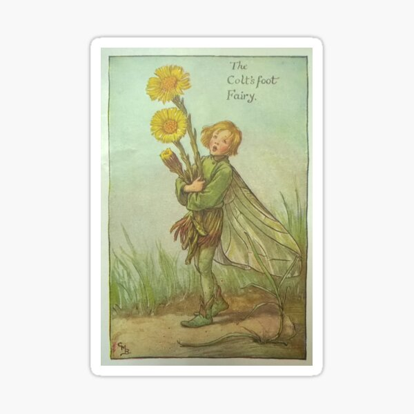 """""""The Colt's Foot Fairy"""" by Cicely Mary Barker  Sticker"""