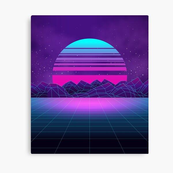 Synthwave Vaporwave Aesthetics Canvas Print