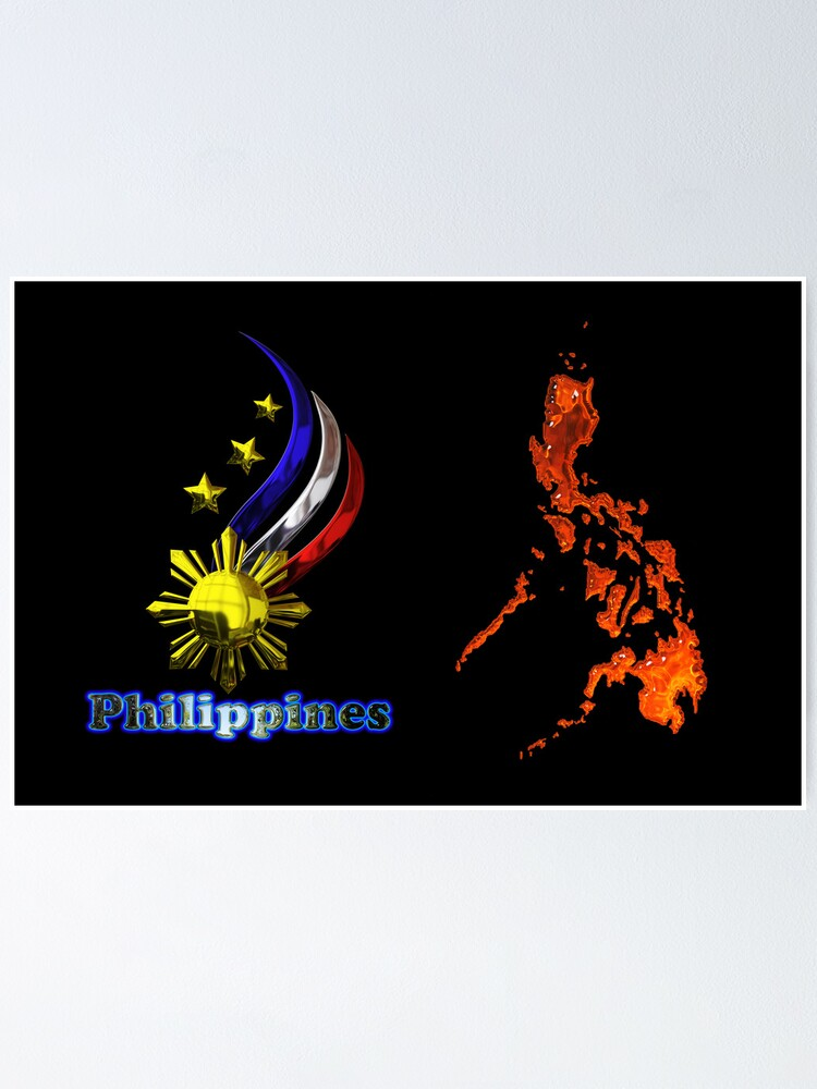 Alternate view of Philippine map logo Poster