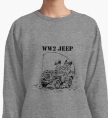 WW2 jeep Lightweight Sweatshirt