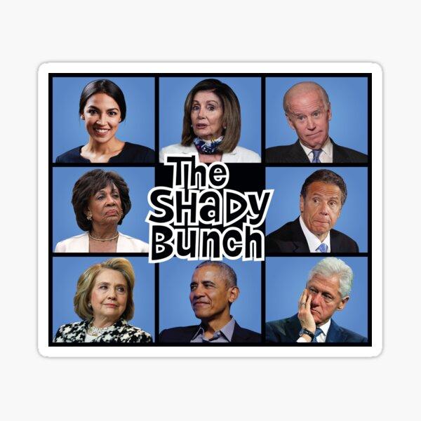 The Shady Bunch Parody Sticker