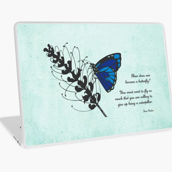 Become a Butterfly Blue Laptop Skin