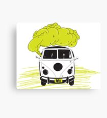 coocking in the van Canvas Print