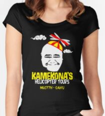 Kamekona's Helicopter Tours Women's Fitted Scoop T-Shirt