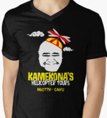 Kamekona's Helicopter Tours Men's V-Neck T-Shirt
