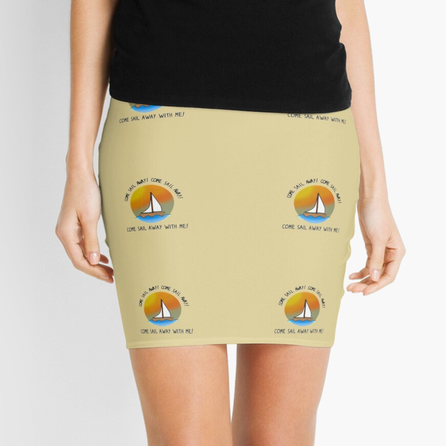 Come Sail Away - Styx Design Mini Skirt