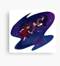 11th Doctor and Clara Canvas Print