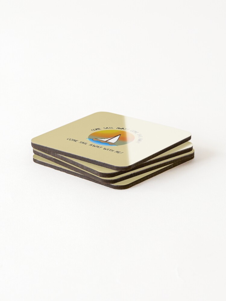 Alternate view of Come Sail Away - Styx Design Coasters (Set of 4)
