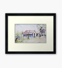 Location sketch - near Narrabri Framed Print