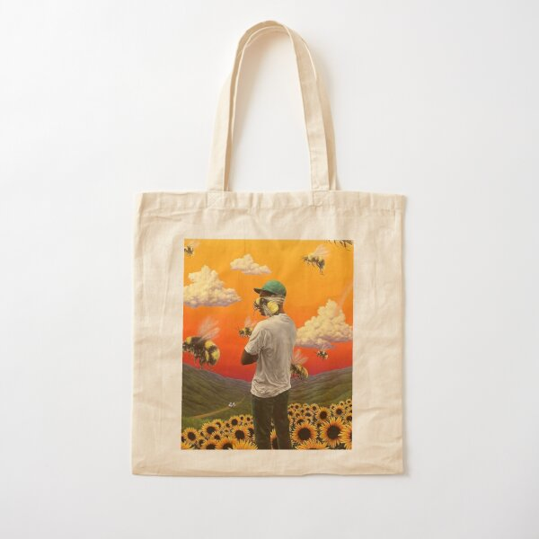 bee boy flower Cotton Tote Bag