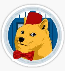 Wow Such Timelord! Sticker