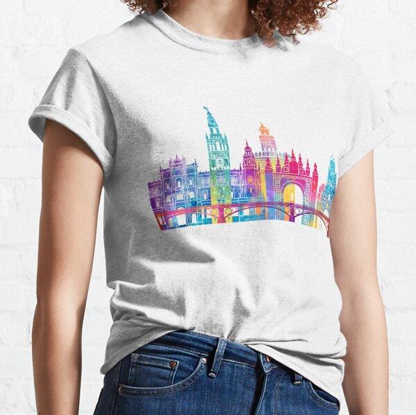 Seville landmarks watercolor poster Classic T-Shirt