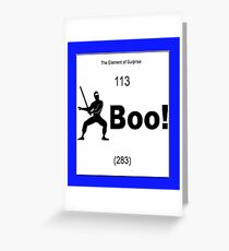 The Element of Surprise Greeting Card