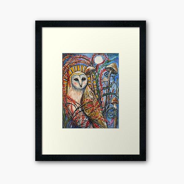 Mystical Owl Framed Art Print