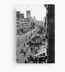 Amsterdam (b/w film) Canvas Print