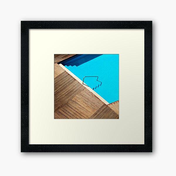 Pool Abstract Framed Art Print