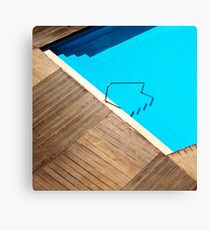 Pool Abstract Canvas Print
