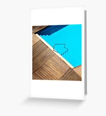 Pool Abstract Grußkarte
