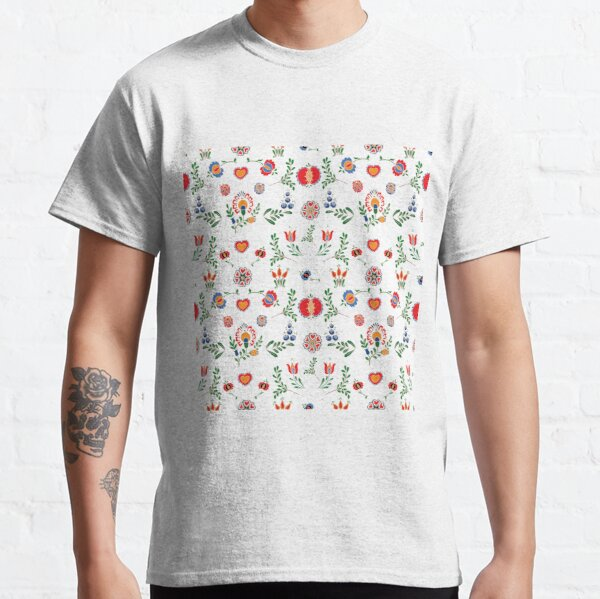 Moravske lidove ornamenty / Moravian folklore ornaments white Classic T-Shirt