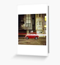 Little Red Car Greeting Card