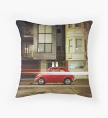 Little Red Car Throw Pillow