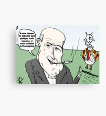 Webcomic FDR chevelu Thanksgiving Canvas Print