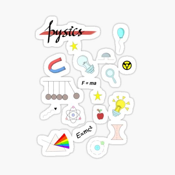 ~ Physics sticker sheet .  Sticker
