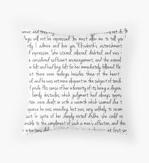 Pride and Prejudice text Throw Pillow