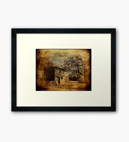 Orchard and Barn Framed Print