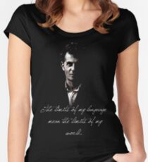 The limits of my language mean the limits of my world - Wittgenstein Women's Fitted Scoop T-Shirt