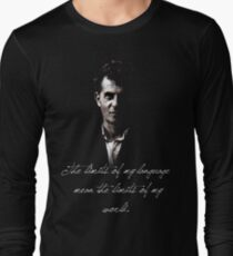 The limits of my language mean the limits of my world - Wittgenstein T-Shirt