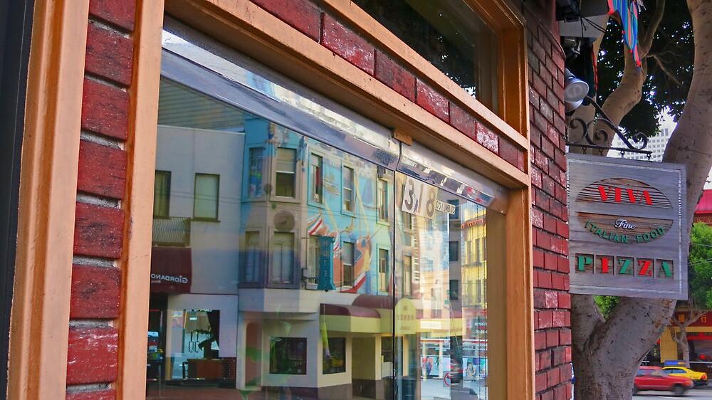 Columbus Street Window Reflection by David Denny
