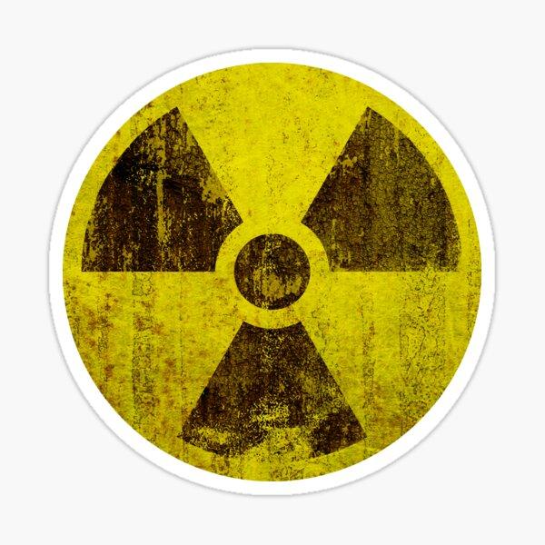 Rusted Radioactive Symbol Sticker