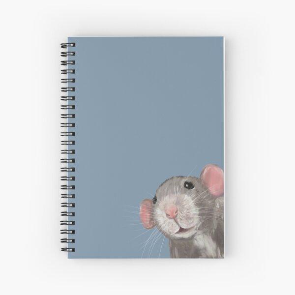 The Peeking Rat Spiral Notebook