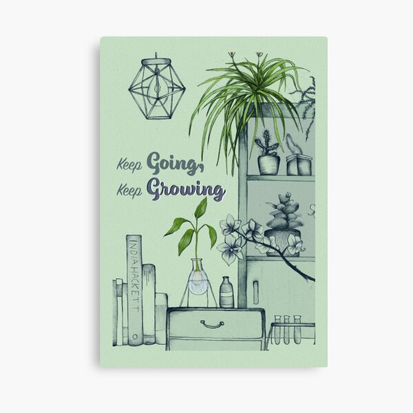 Copy of Keep going, Keep growing (green) Canvas Print