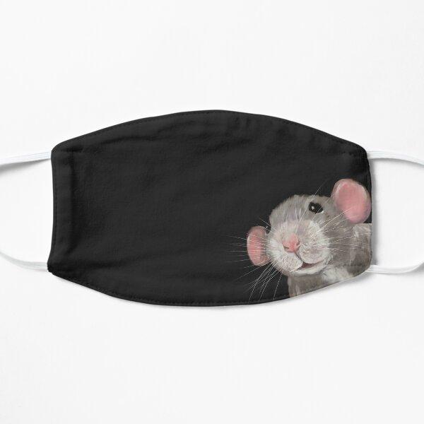 The Peeking Rat (Grey/ Black) Flat Mask