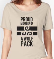 PROUD MEMBER OF A WOLF'S PACK Women's Relaxed Fit T-Shirt