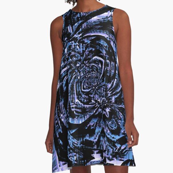 Fractal Madness  A-Line Dress