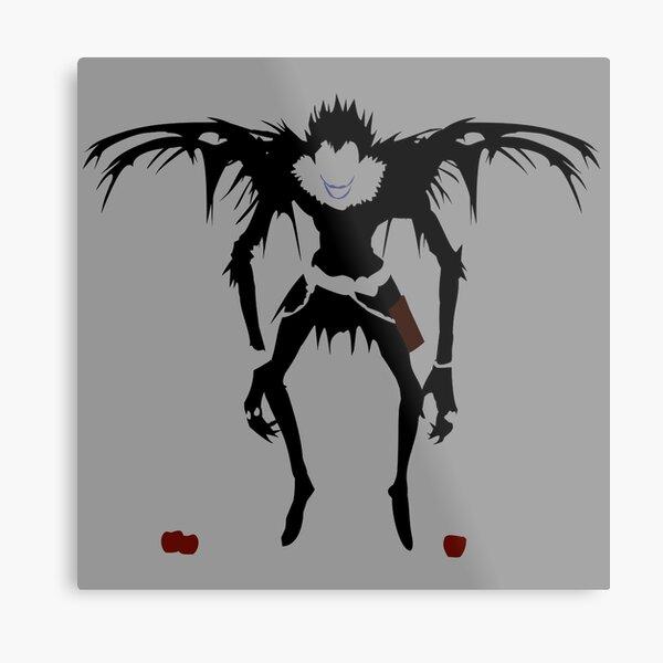 Death Note Ryuk Silhouette Metal Print