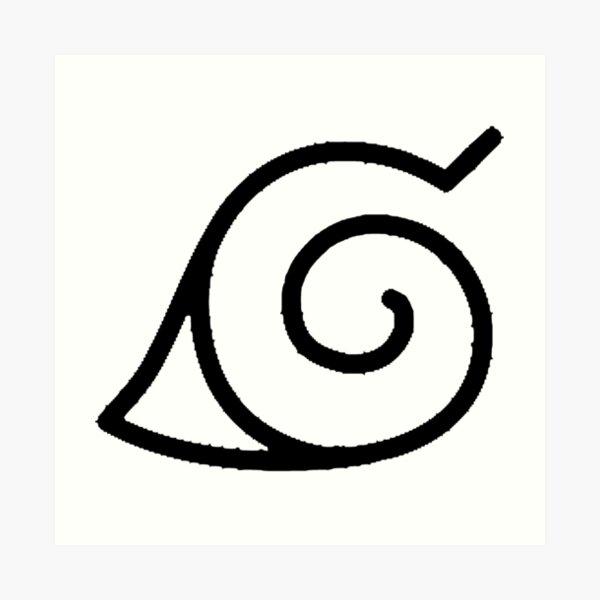 Konoha symbol Impression artistique