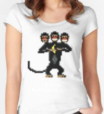 Three-Headed Monkey V2 Women's Fitted Scoop T-Shirt