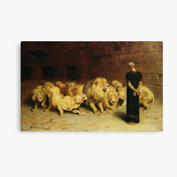 Daniel en el foso de los leones Lienzo