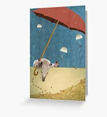 ANTS MARCHING Greeting Card