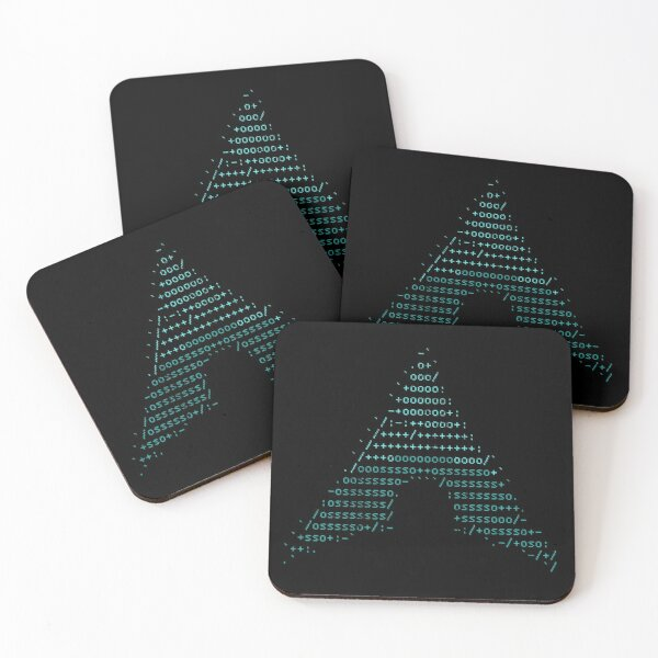 Arch Linux logo vintage Coasters (Set of 4)