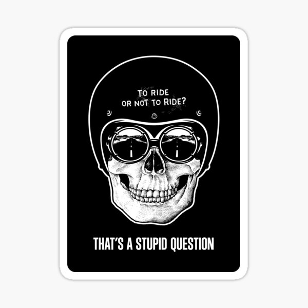 To Ride, Or Not To Ride? Sticker
