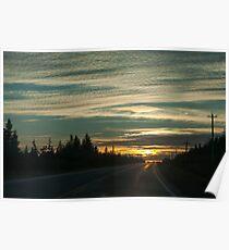 Sunset In Cape Breton Highlands National Park Poster