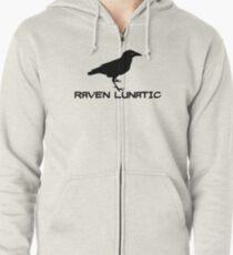 Raven Lunatic Zipped Hoodie