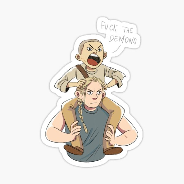 Abby and Lev Sticker
